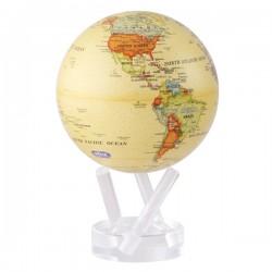 "Mova Globe Antique Beige Map 4.5"""