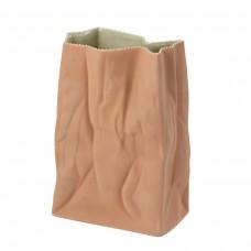Rosenthal Brown Paper Bag Vase 28cm.