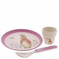 Beatrix Potter - Flopsy Bamboo Egg Cup Dinner Set