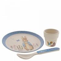 Beatrix Potter - Peter Rabbit Bamboo Egg Cup Dinner Set
