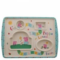 Peppa Pig Bamboo Game Plate