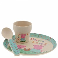 Peppa Pig Bamboo Egg Cup Set