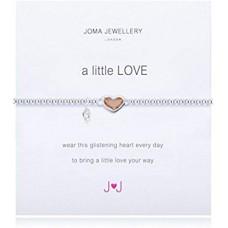 Joma - A Little Love - Pink Crystal Heart - Bracelet
