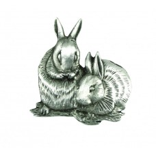 A. E. Williams Rabbits Pewter Lapel Pin
