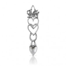 A. E. Williams Entwined Hearts Pewter Lovespoon 9cm