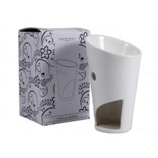 Ashleigh & Burwood Torch - Ceramic Oil Burner - White