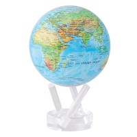 """Mova Globe Blue Ocean with Relief Map 4.5"""""""